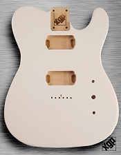Tele Body cut for 2 Humbucker, White Poplar, Arctic White