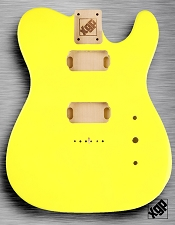 Tele Body cut for 2 Humbucker, White Poplar, Jem Yellow