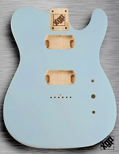 Tele Body cut for 2 Humbucker, White Poplar, Sonic Blue