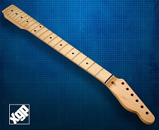 XGP Premium Hard Rock Maple 22 Fret Tele Neck, Maple Fingerboard