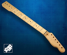 XGP Premium Hard Rock Maple 21 Fret Tele Neck, Maple Fingerboard