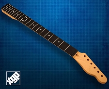 XGP Premium Hard Rock Maple 21 Fret Tele Neck, Rosewood Fingerboard