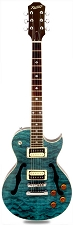 XV-550 Semi-Hollow carved Top- Solid Maple Top- Ocean Blue Turquoise