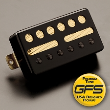 KP - GFS Gold Foil Single Coil Ferrite Humbucker Shell, Black - Kwikplug™ Ready