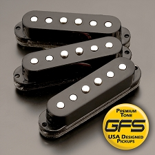 KP - Black NAL Alnico Single Pickup - Thicker, Bolder Tones - Kwikplug Ready