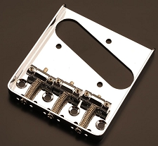 3 CHROMED Brass Saddle Bridge Chrome, Fits Tele®