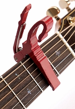 Quick Release Aluminum Capo Red Finish