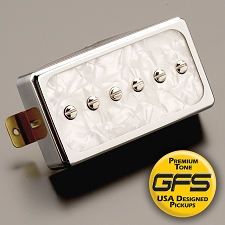 KP - Dream 90 Humbucker SIzed P90 White Pearl/Chrome - Kwikplug™ Ready