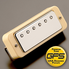 KP - Mini Crunchy Humbucker, CREAM rings - Kwikplug™ Ready