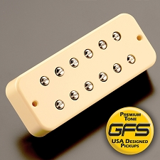 KP - Soapbar 180 humbucker in Soapbar P90 Shell, Cream - HIGH OUTPUT - Kwikplug™ Ready