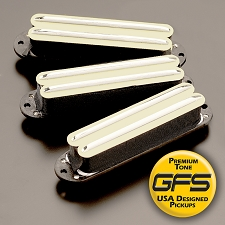 KP - Lil Killer Cream Humbucker Rail Pickup for Strats- Three Versions Available - Kwikplug™ Ready