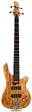 DLX II Spalted Maple, Carved Top Bass Active Preamp, 24 Fret Natural