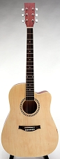 SPECIAL PURCHASE- Brand New Square Headstock Dreadnought Acoustic Cutaway-Natural Finish