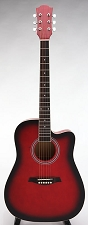 SPECIAL PURCHASE- Brand New Waverly Tuners Dreadnought Acoustic Cutaway-Redburst