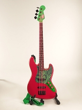 By Duff Cobra -- Pink Neon Jazz Bass With Custom Cobra Pickguard - Mostly GF Parts