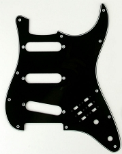3 Ply Black BHM Style SSS Pickguard for Strat®