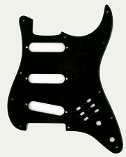 Single Ply Black BHM Style SSS Pickguard for Strat®