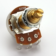 XGP Custom Taper LONG Shaft Pot B330K- P90, Overwound Tone- Our Best!