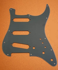 Black 3-Ply Superstrat Pickguard SSS, for Strat