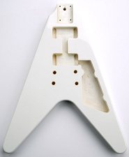 Flying V Bolt On Body. Solid Poplar- Gloss White