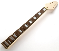 Unfinished Flying V style bolt-on Neck. Maple with rosewood board- Bound block inlays.