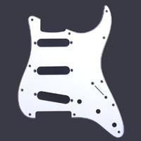 White/Black/White SSS Pickguard, Fits Strat®