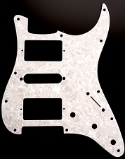 HSH Humbucker-Single-Humbucker Pickguard for Covered Pickups- Pearloid White