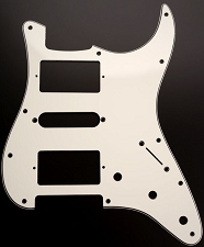 HSH Humbucker-Single-Humbucker Pickguard for Covered Pickups-