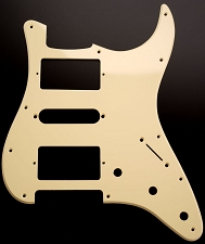 HSH Humbucker-Single-Humbucker Pickguard for Covered Pickups- Single Ply Cream