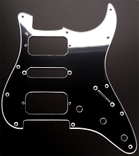 Strat HSH Radius Corner Pickguard for OPEN Pickups- MIRROR