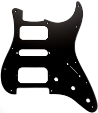 Strat HSH Radius Corner Pickguard for OPEN Pickups- Matte Black