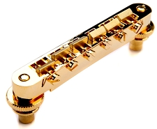 XGP USA Gibson fit Gold Tuneomatic Bridge- BRASS Saddles- OUR BEST!