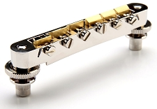 XGP USA Gibson fit Nickel Tuneomatic Bridge- BRASS Saddles- OUR BEST!