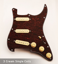 Tortoiseshell Pickguard with Vintage Cream pickups and Knobs