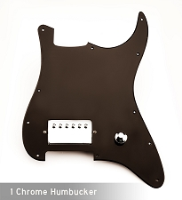 Single-Ply Black Humbucker EVH Rig- BLACK!  - Chrome Pickup and knob