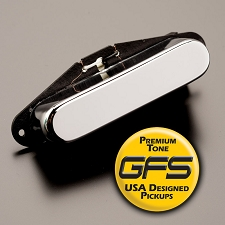 KP - Alnico Neck Pickup- Classic Chrome Cover, Fits Tele® - Kwikplug Ready