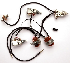 Kwikplug SG DUAL COIL TAP HUMBUCKER Wiring Harness- PRE-SOLDERED Drop-In  `