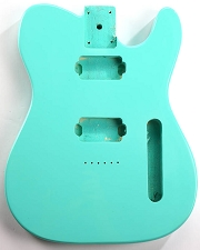 CLEARANCE - GF Basics 2 Humbucker TE Style Body Surf Green Full USA Thickness