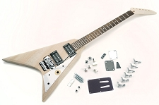 Solid Poplar Offset V Kit- Floyd Rose Style Locking Tremolo