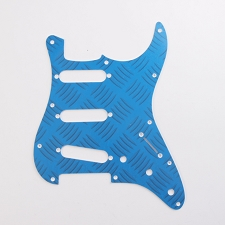 Prototype 3-Ply Blue Check SSS Pickguard for Strat