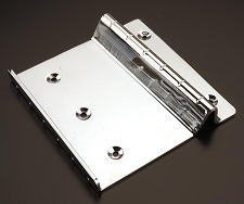 Lap Steel Chrome Metal Bridge- Works with ANY scale length!