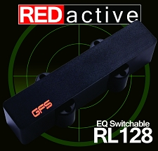 REDactive EQ Switchable Jazz Bass Active pickup Bridge Position black Case