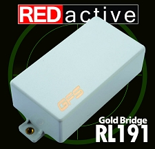 REDactive Gold Modern Humbucker Active Bridge White
