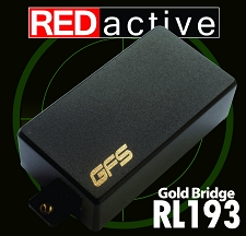 REDactive Gold Modern Humbucker Active Bridge Black