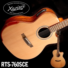 Laurel Negro Xaviere CEDAR top Premium Acoustic/Electric  Cutaway All Wood Construction