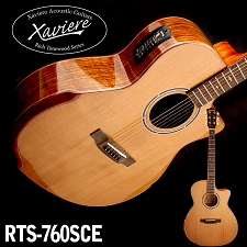 Black Walnut Xaviere CEDAR top Premium Acoustic/Electric Cutaway  All Wood Construction