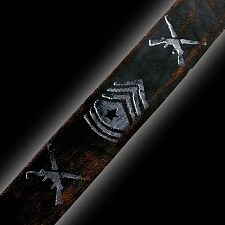 NEW! Slickstraps Sergeant Stripes/Guns HAND DISTRESSED
