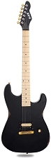 Slick SL54 Aged Black Single Humbucker Maple Fingerboard