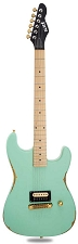 Slick SL54 Aged Surf Green Single Humbucker Maple Fingerboard