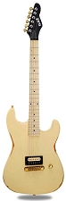 Slick SL54 Aged Vintage Cream Single Humbucker Maple Fingerboard